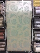 SALE | Metallic Floral Designer Wallpaper Duck Egg Gold FD65878