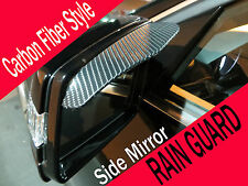 Black CARBON FIBER Mirror Rain Snow Shade Guard Visor #chev3