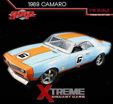 GMP 18814 1:18 1968 CHEVY CAMARO GULF OIL RACING #6 STREET FIGHTER