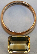 NATURAL YELLOW CITRINE LOOSE GEM 9X12 FACETED OCTAGON CUT 5.1CT GEMSTONE CI16