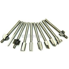"""1/8"""" 3mm HSS Router Bits Wood Cutter Milling Fits Dremel Rotary Tool Set 10pcs"""