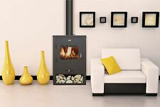 Wood Burning Stove Fireplace Log Burner Solid Fuel Modern Multi Fuel  Prity K13