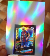 2016-17 UEFA Topps Match Attax LESG GOLD Lionel Messi Jumbo Refractor Header 4x6