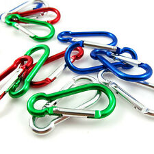 6X Simple Aluminum Carabiner Camp Snap Hook Keychain Hiking
