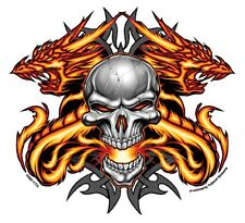 The Heat Scull and Dragons Aufkleber Decal Rockabilly Old School Dead Head  MC