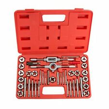 40 un. Metric Tap And Die Set Llave recortes m3-m12 Pernos + Funda Rígida