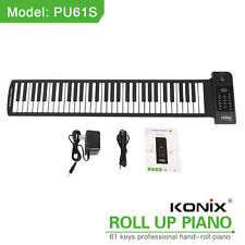 PU61S Roll up Keyboard Piano Digital Soft Electric Music 128 Tone with Converter