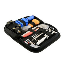 Portable 144Pcs Watchmaker Watch Repair Repairing Tools Kit Case Opener Bar Set