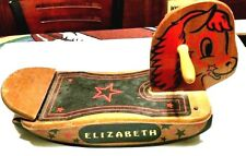 Cute Vintage Small All Wooden Child's Rocking Horse