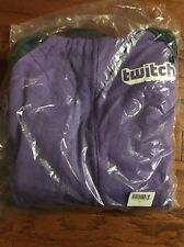 NEW TwitchCon 2016 Medium M Purple Gray Reversible Hoodie Twitch.tv Twitch Con