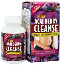 LESS BLOATING 14-DAYS ACAI BERRY CLEANSE WEIGHT -LOSS FLUSH