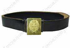 Spanish Civil War LEATHER BELT AND BUCKLE Post WW2 Army Military Uniform Surplus