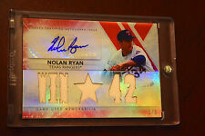 2014 Topps Triple Threads RUBY Nolan Ryan Auto Jersey 1/1