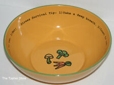 DEPARTMENT 56 - TIME TO CELEBRATE - Gold Stress Survival Eat Bowl - 20.88255