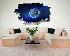 Erde Weltall Space Planet All Wandtattoo XXL Wandsticker 3D-Optik Aufkleber C018