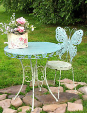 Iron Antique-Look Round Butterfly Bistro Table 2 Chairs Set Build to Last
