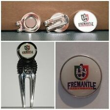 2 only FREEMANTLE DOCKERS  GOLF BALL MARKERS + A  NICE  DIVOT TOOL &  HAT CLIP