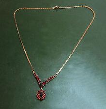 Bella vecchia 333er Gold-Granat Collier * 7,4 g Melograno-catena