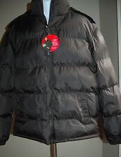 New Quilted  Mens Winter Jacket Freestyle Sz M Water Repellent Removable Hood