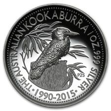 2015 25th Anniversary Australian Kookaburra 1oz Silver Proof High Relief Coin