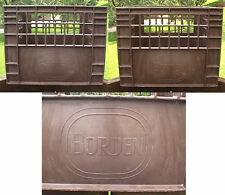 BORDEN 12-77 HEAVY DUTY PLASTIC MILK BOTTLE CRATE