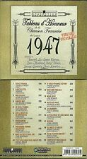 CD - CHANSONS ANNEE 1947 avec LINE RENAUD, TRENET, PIAF, BOURVIL, FRERES JACQUES