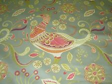 """~15 YDS~RICHLOOM~""""PHEASANTS BIRDS""""~AWSOME COTTON UPHOLSTERY FABRIC FOR LESS~"""