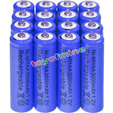 16x AA battery batteries Bulk Nickel Hydride Rechargeable NI-MH 3000mAh 1.2V Blu