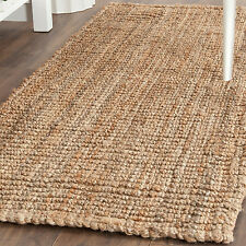 Thick Woven Rug Indoor Outdoor Passage Runner Long Jute Natural Fiber Brown 2x10