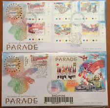 Singapore FDC -2016 50 Yr National Day Parade stamps  & MS on cover spec chop