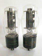 PAIR 1956 Sylvania 6L6GA Power Amp tubes - Hickok TV-7B tested @41, 43, min:25