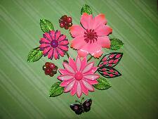 Vintage Enamel Flower Brooch Pin Bouquet Lot Design