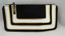 100% Authentic MAC Black & White Leather & Nylon Cosmetic Pouch