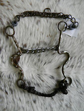"Metalab Western Brown Steel Horse Show Bit 5 1/2"" Chain Mouth New Tack"