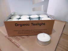 Natural Organic Tea Lights 2 Boxes of 24 Tealights Smokeless Vegetable Wax