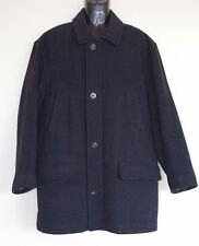 Brooks Brothers Pea Coat Men's Meidum Black Wool Quilted Lining Zip Buttons