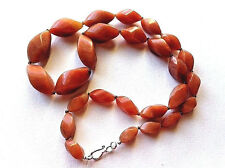 """Antique Carved Carnelian Graduated Beads Necklace TGW 440 cts/ 23""""L"""