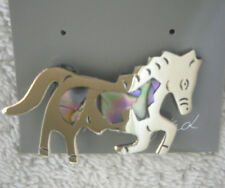 Pin/Brooch Galloping/Prancing/Running Horse Abalone Shell Alpaca Southwest new