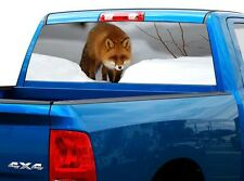 P437 Fox Rear Window Tint Graphic Decal Wrap Back Truck Tailgate