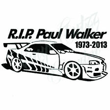 PAUL WALKER NOVELTY CAR VAN BIKE VINYL DECAL STICKER 9.5x18.5cm aprox