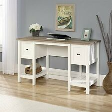 Sauder 418072 Cottage Road Desk With Two Drawers In Soft White Finish NEW
