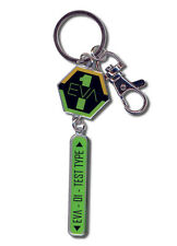 **License** Evangelion Metal Keychain EVA Nerv Unit 01 Insignia Test Type #5044