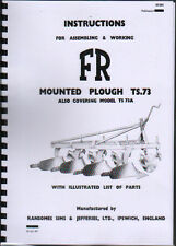 """Ransomes """"TS.73"""" Mounted Plough Instruction and Parts Book"""