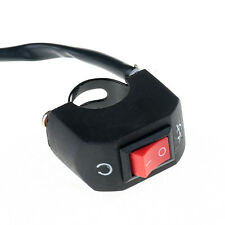 """Universal Motorcycle ON-OFF Switch Button 7/8"""" Handlebar Mount Button Switch"""