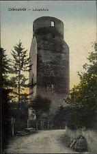 Liebenwerda Brandenburg ~1910 Strassen Partie am Lubwart-Turm Verlag H. Rubin