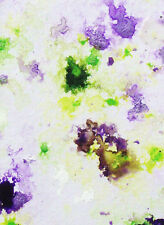 ACEO ORIGINAL PAINTING by Studio Angela Purple/Green Abstract #11