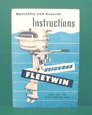 Original 1950 Evinrude FLEETWIN 4434 - 4435 Operating Instructions Owners Manual