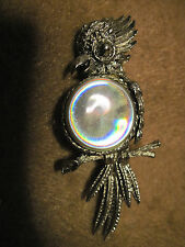 Vintage BEAUTIFUL Silver Cock-a-too/Parrot Detailed Brooch/ Pin....#3220