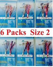 6 Packs Size 2 Sabiki Squid Octopus Bait Rigs 2 Hooks Saltwater Fishing Lure