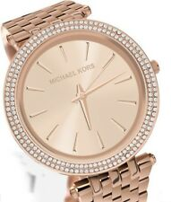 Michael Kors MK3192, Sleek Design, Full Rose Gold Studded Bezel Watch for Women